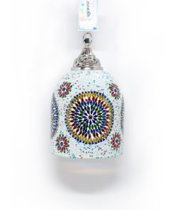 Mozaiek lamp multicolour wit Jaipur uit