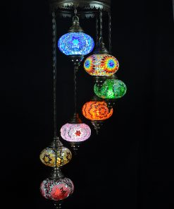 Oosterse Turkse lamp all colours 7 bollen