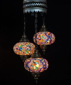 Oosterse Turkse lamp multicolour 3 bollen