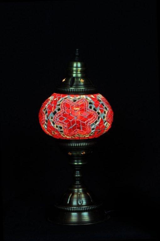 Turkse tafellamp rood - Lifestyle Trading