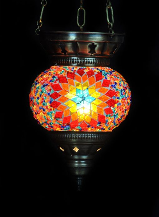 Turkse hanglamp multicolour - Lifestyle Trading