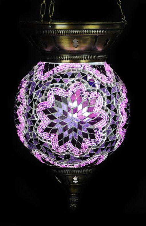 Turkse hanglamp paars