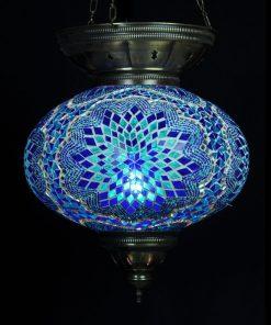 Turkse hanglamp blauw