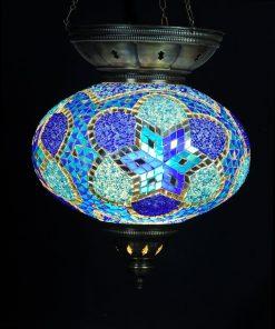 Türkische Hängelampe Blau Ø 25 cm