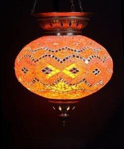 Türkische Hängelampe Orange Ø 25 cm