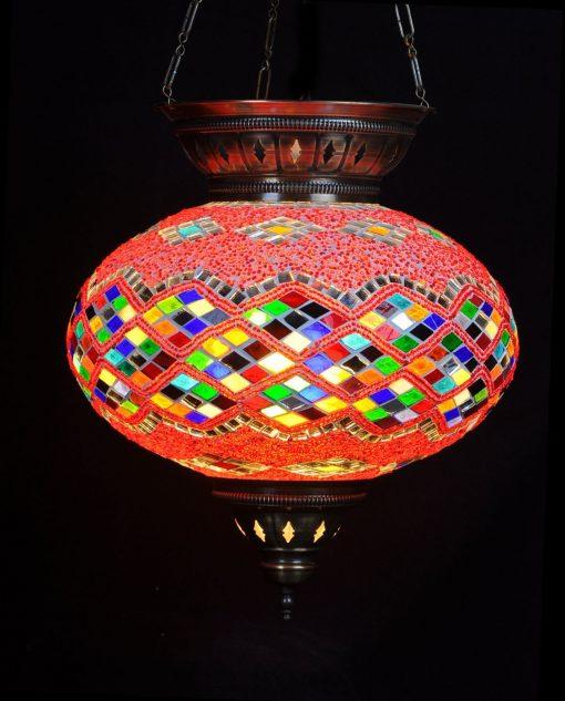 Turkse hanglamp multi rood