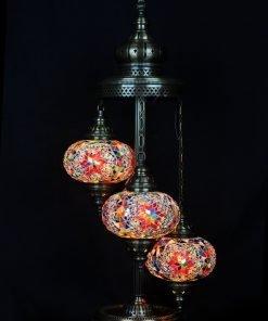 Türkische Stehlampe 3 Kugeln Mehrfarbig (a) - Lifestyle Trading