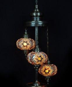 Türkische Stehlampe 3 Kugeln Braun - Lifestyle Trading