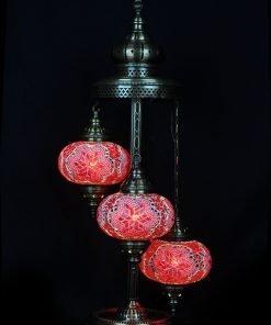 Türkische Stehlampe 3 Kugeln Rot - Lifestyle Trading