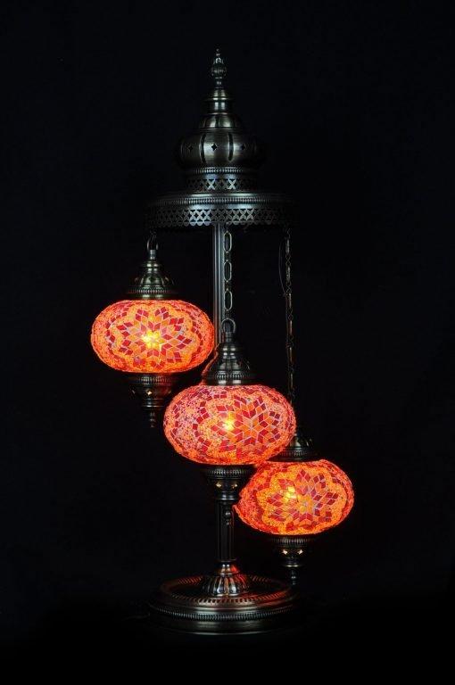 Türkische Stehlampe 3 Kugeln Orange - Lifestyle Trading