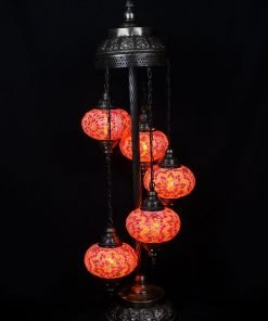 Türkische Stehlampe 5 Kugeln Orange - Lifestyle Trading