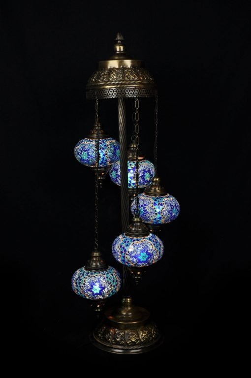 Turkse vloerlamp blauw - Lifestyle Trading