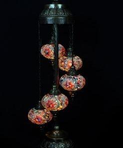 Türkische Stehlampe 5 Kugeln mehrfarbig - Lifestyle Trading