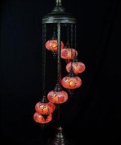 Türkische Stehlampe 7 Kugeln Orange - Lifestyle Trading