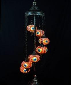 Türkische Stehlampe 7 Kugeln mehrfarbig - Lifestyle Trading