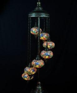 Türkische Stehlampe 7 Kugeln alle Farben - Lifestyle Trading