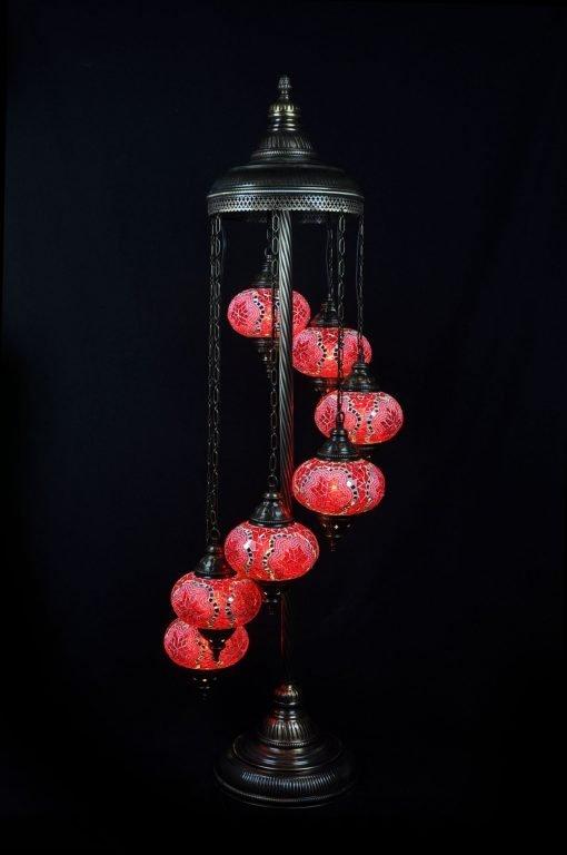 Türkische Stehlampe 7 Kugeln Rot - Lifestyle Trading