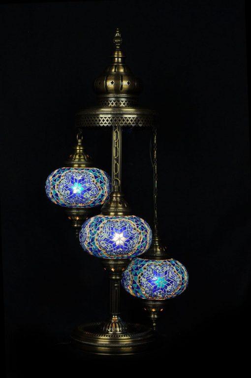 Türkische Stehlampe 3 Kugeln Blau