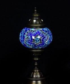 Turkse tafellamp blauw - Lifestyle Trading