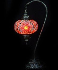 Türkische Tischlampe Rot/Orange bogen - Lifestyle Trading
