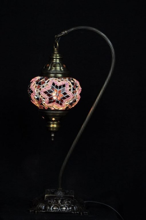 Türkische Tischlampe Lila bogen - Lifestyle Trading