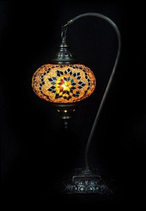 Türkische Tischlampe Braun bogen - Lifestyle Trading