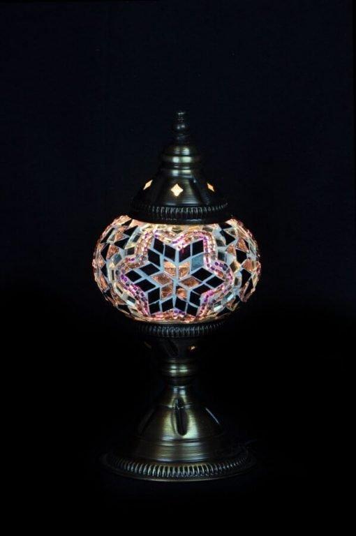 Türkische Tischlampe Lila- Lifestyle Trading