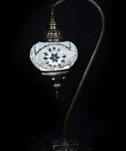 Turkse tafellamp wit - Lifestyle Trading