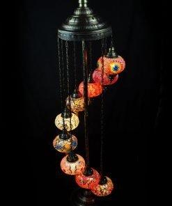 Türkische Stehlampe 9 Kugeln Blau - Lifestyle Trading